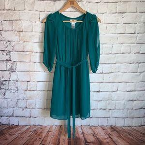Sweet Storm Dress, Cold Shoulder 3/4 Sleeves, S
